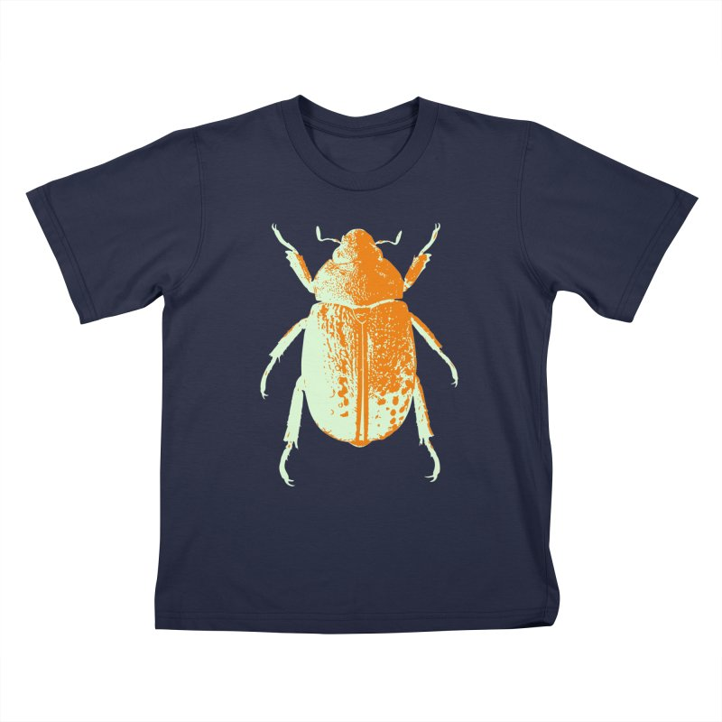 Sherbert Beetle Kids T-Shirt by Inappropriate Wares