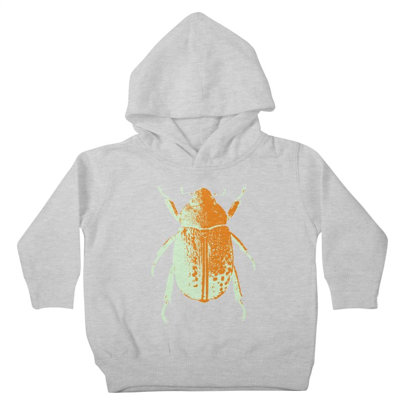 Sherbert Beetle Kids Toddler Pullover Hoody by Inappropriate Wares
