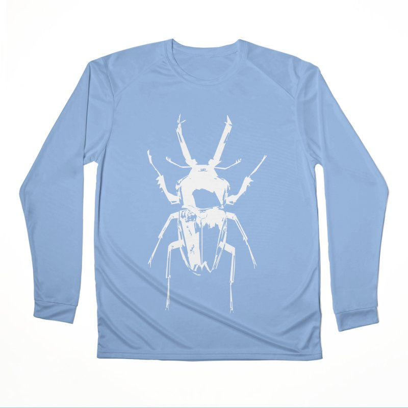 White Beetle Women's Longsleeve T-Shirt by Inappropriate Wares