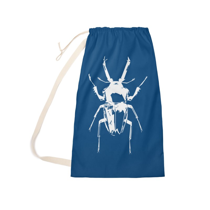 White Beetle Accessories Bag by Inappropriate Wares
