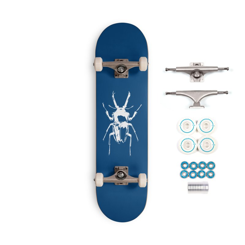 White Beetle Accessories Skateboard by Inappropriate Wares