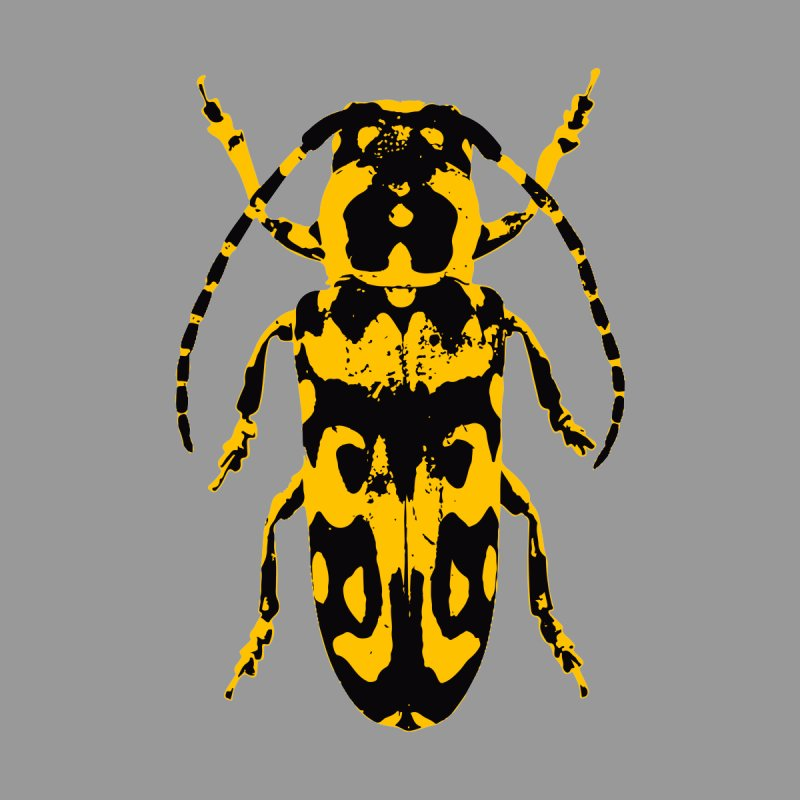 Yellow & Black Beetle Accessories Beach Towel by Inappropriate Wares