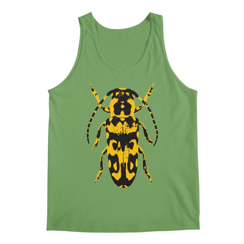 Yellow & Black Beetle Men's Tank by Inappropriate Wares