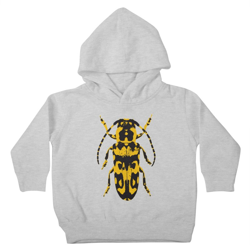 Yellow & Black Beetle Kids Toddler Pullover Hoody by Inappropriate Wares