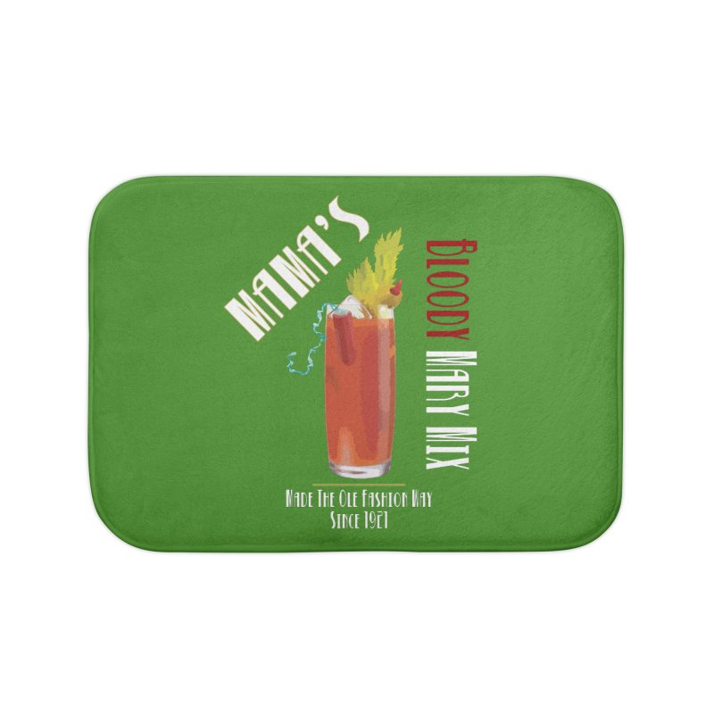 Mama's Bloody Mary Mix Home Bath Mat by Inappropriate Wares