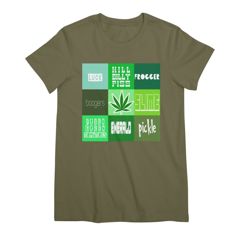 GREEN Women's Premium T-Shirt by Inappropriate Wares
