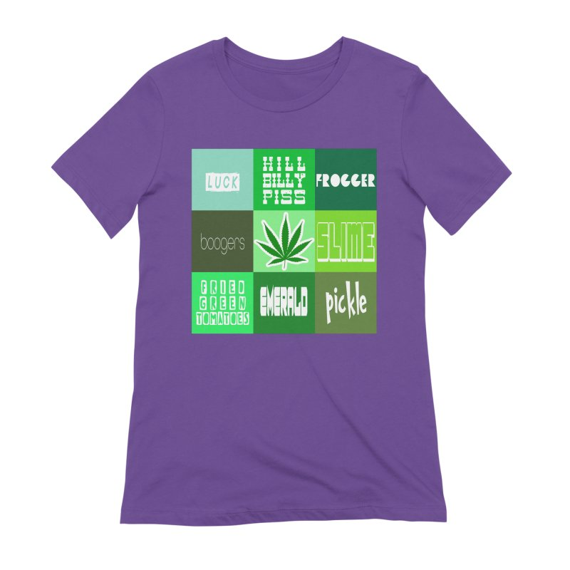 GREEN Women's Extra Soft T-Shirt by Inappropriate Wares