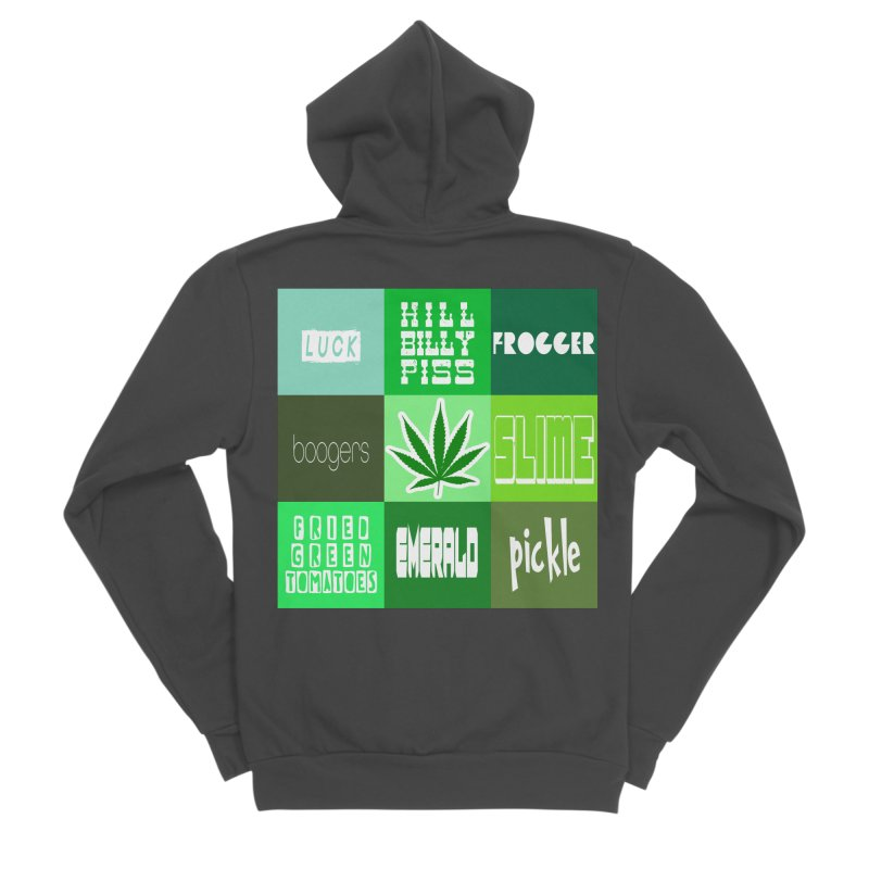 GREEN Men's Sponge Fleece Zip-Up Hoody by Inappropriate Wares