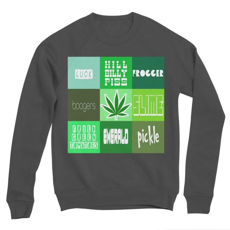 GREEN Women's Sponge Fleece Sweatshirt by Inappropriate Wares