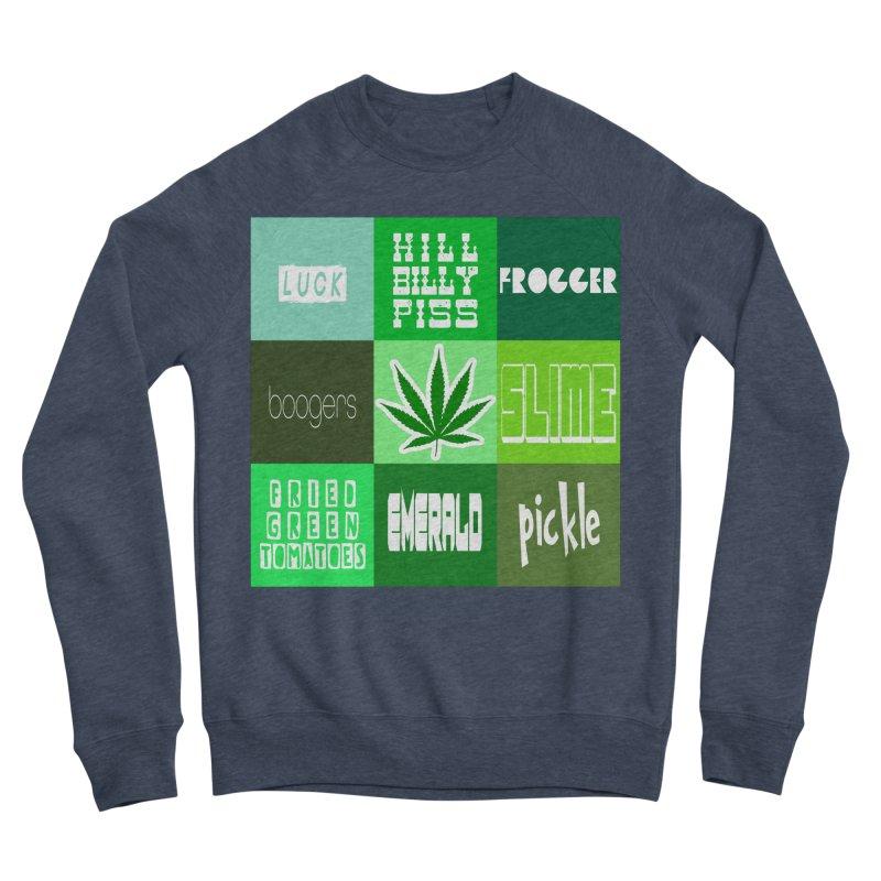 GREEN Men's Sponge Fleece Sweatshirt by Inappropriate Wares
