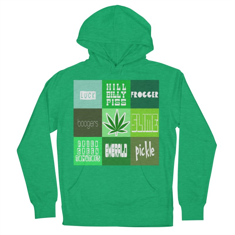 GREEN Men's French Terry Pullover Hoody by Inappropriate Wares