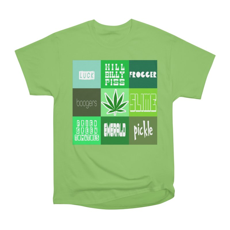 GREEN Men's Heavyweight T-Shirt by Inappropriate Wares