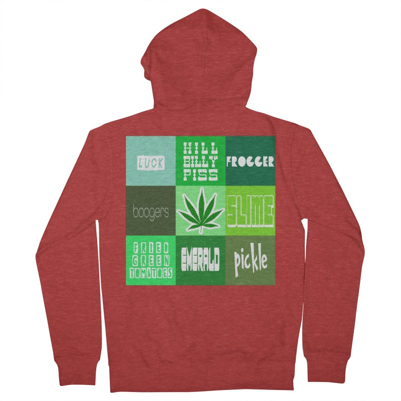 GREEN Women's French Terry Zip-Up Hoody by Inappropriate Wares