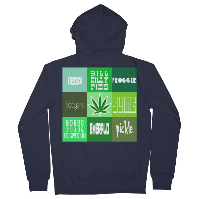 GREEN Men's French Terry Zip-Up Hoody by Inappropriate Wares