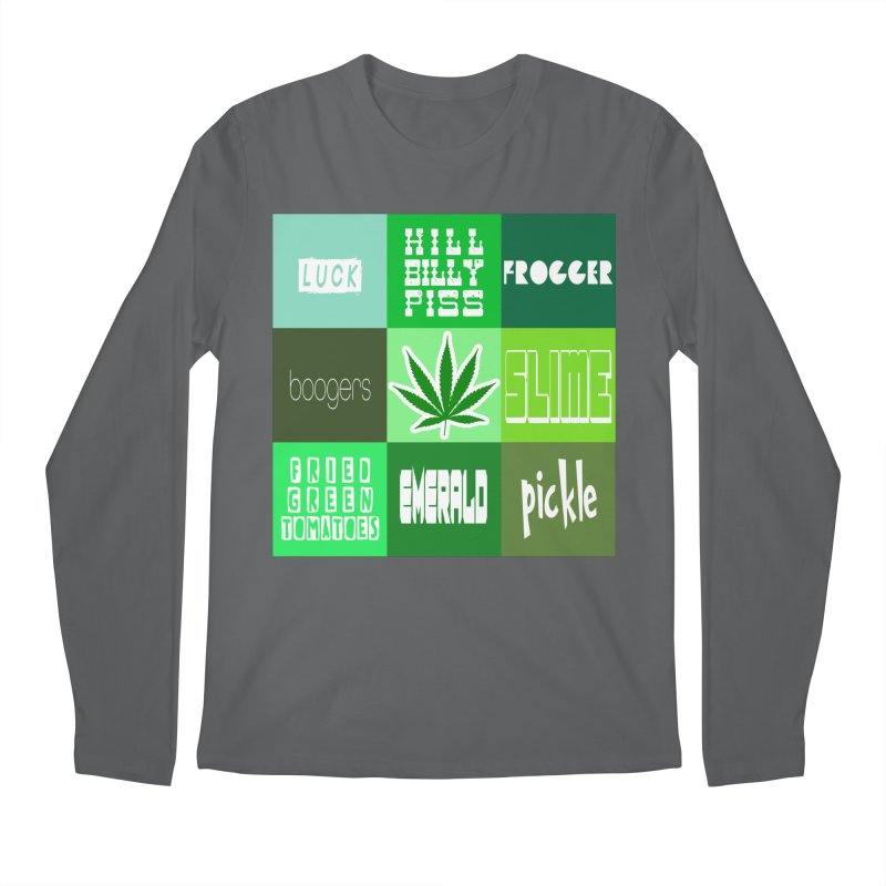 GREEN Men's Longsleeve T-Shirt by Inappropriate Wares