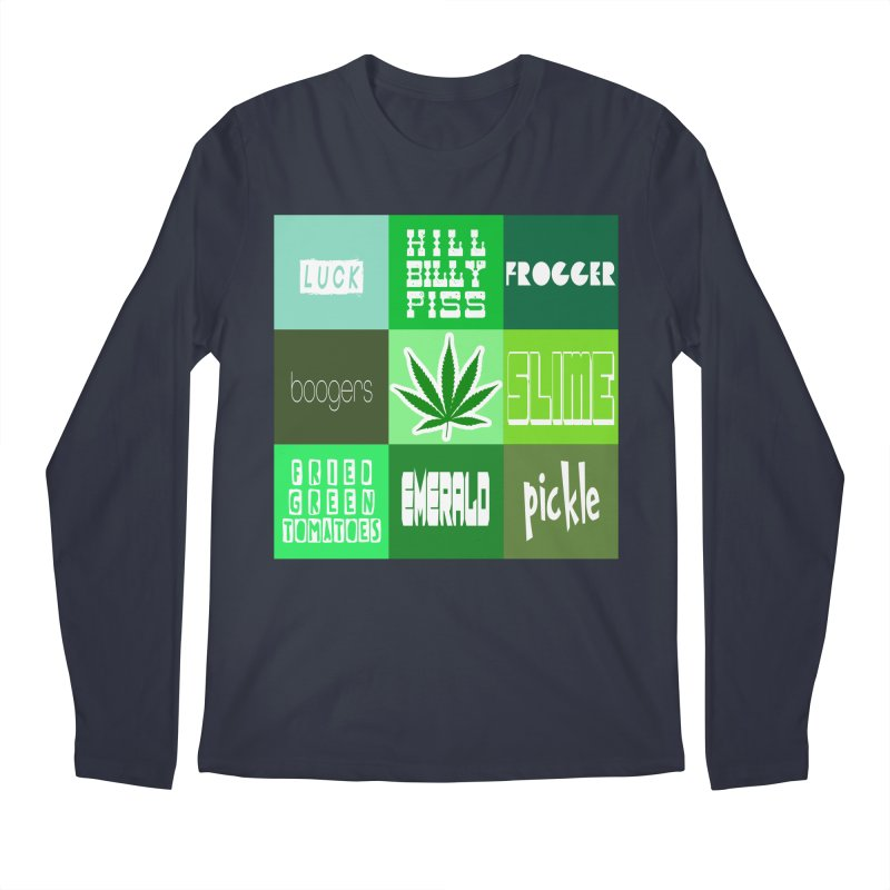 GREEN Men's Regular Longsleeve T-Shirt by Inappropriate Wares