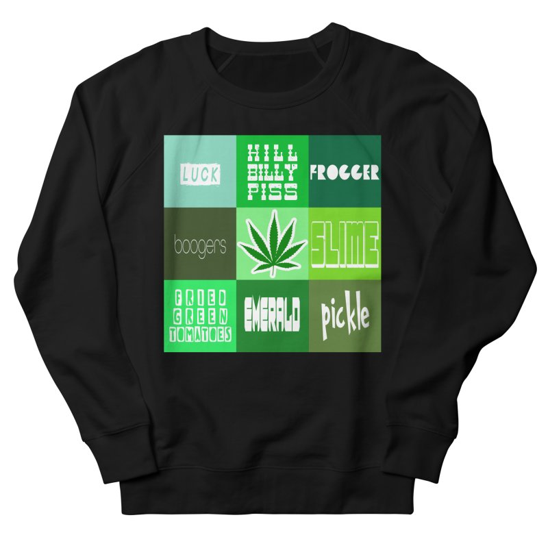 GREEN Men's French Terry Sweatshirt by Inappropriate Wares