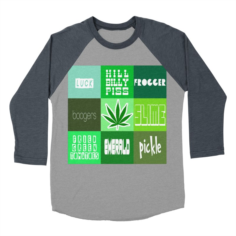GREEN Women's Baseball Triblend Longsleeve T-Shirt by Inappropriate Wares