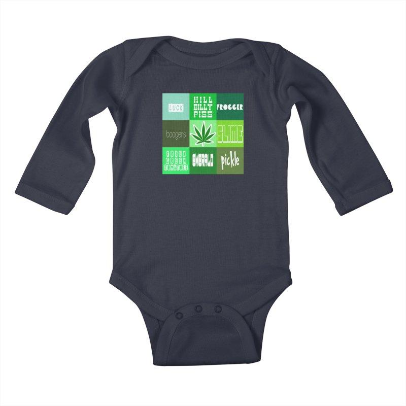 GREEN Kids Baby Longsleeve Bodysuit by Inappropriate Wares
