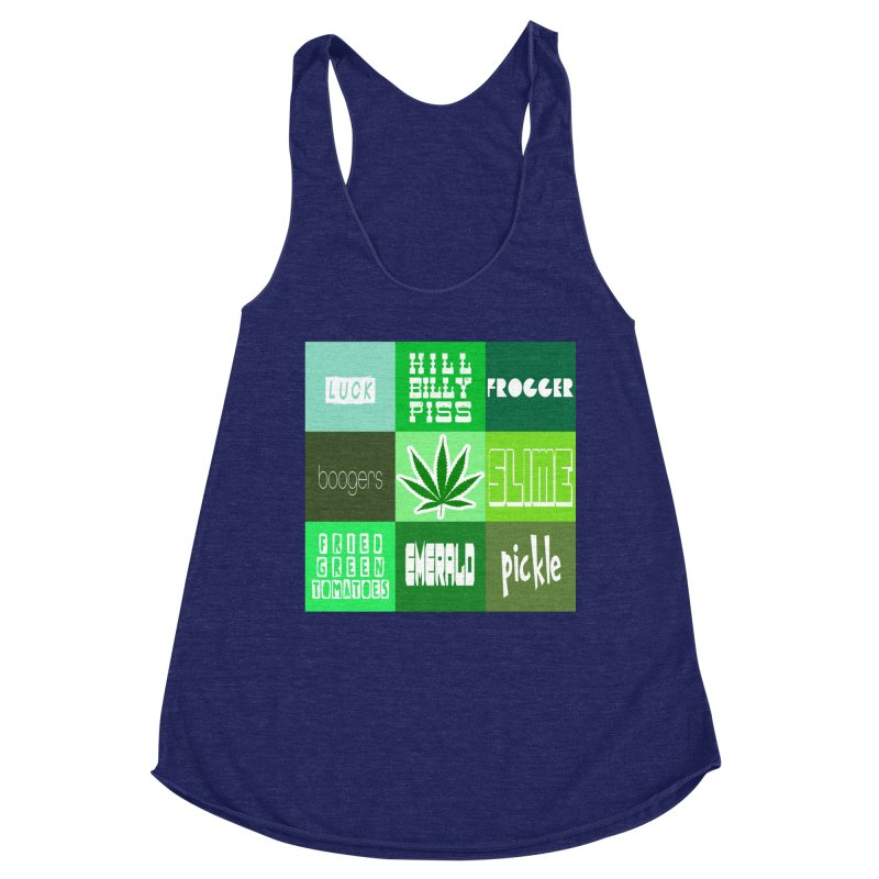 GREEN Women's Racerback Triblend Tank by Inappropriate Wares