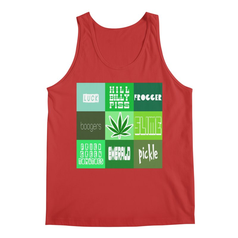 GREEN Men's Regular Tank by Inappropriate Wares