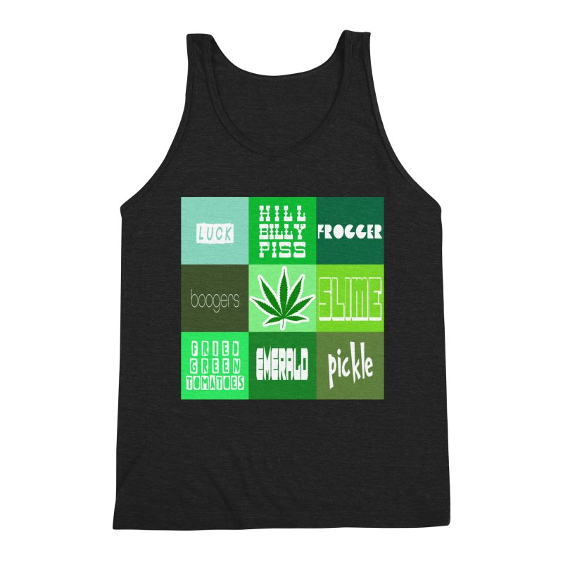 GREEN Men's Triblend Tank by Inappropriate Wares