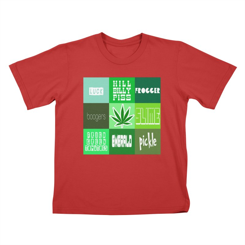 GREEN Kids T-Shirt by Inappropriate Wares