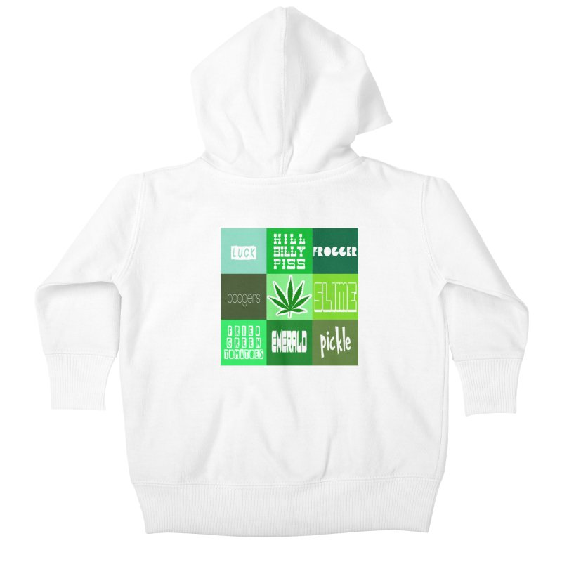 GREEN Kids Baby Zip-Up Hoody by Inappropriate Wares