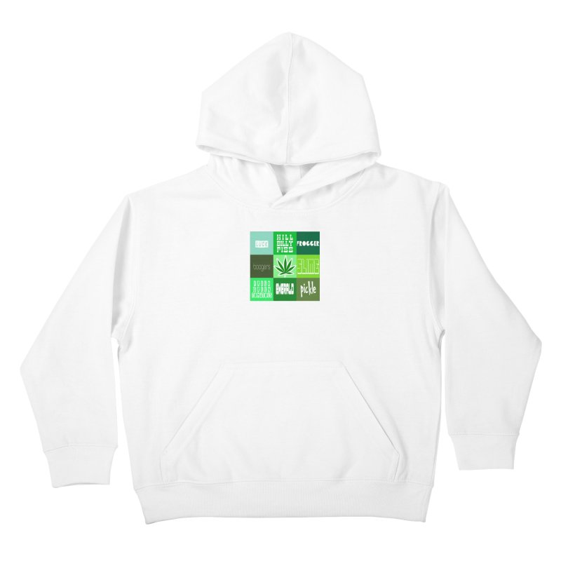 GREEN Kids Pullover Hoody by Inappropriate Wares