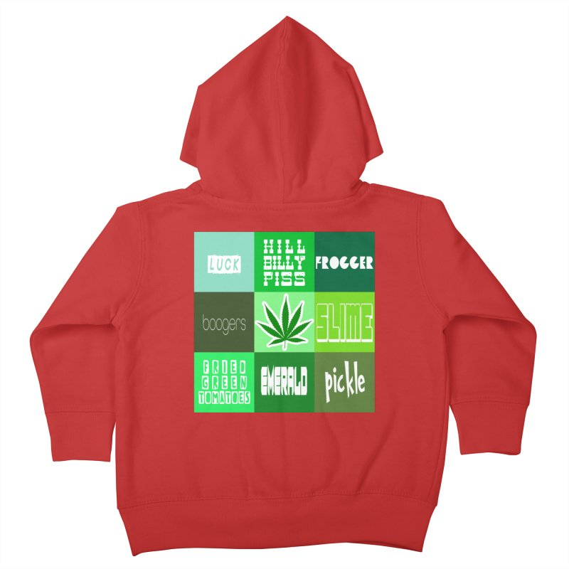 GREEN Kids Toddler Zip-Up Hoody by Inappropriate Wares