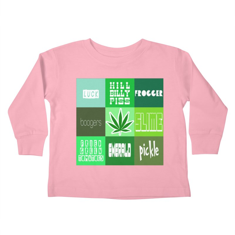 GREEN Kids Toddler Longsleeve T-Shirt by Inappropriate Wares