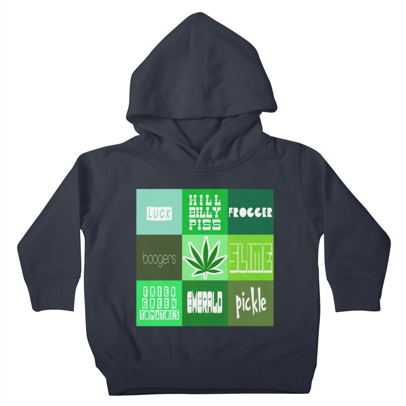 GREEN Kids Toddler Pullover Hoody by Inappropriate Wares