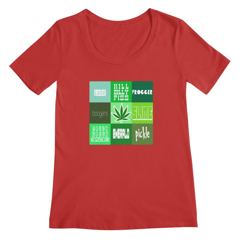 GREEN Women's Regular Scoop Neck by Inappropriate Wares