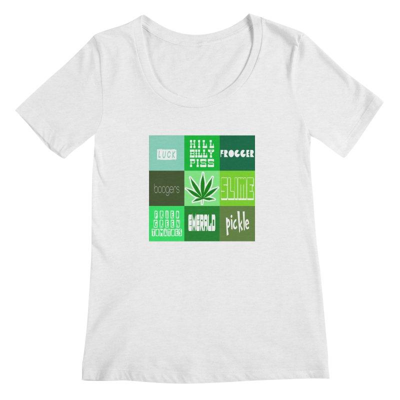 GREEN Women's Regular Scoop Neck by Inappropriate Wares