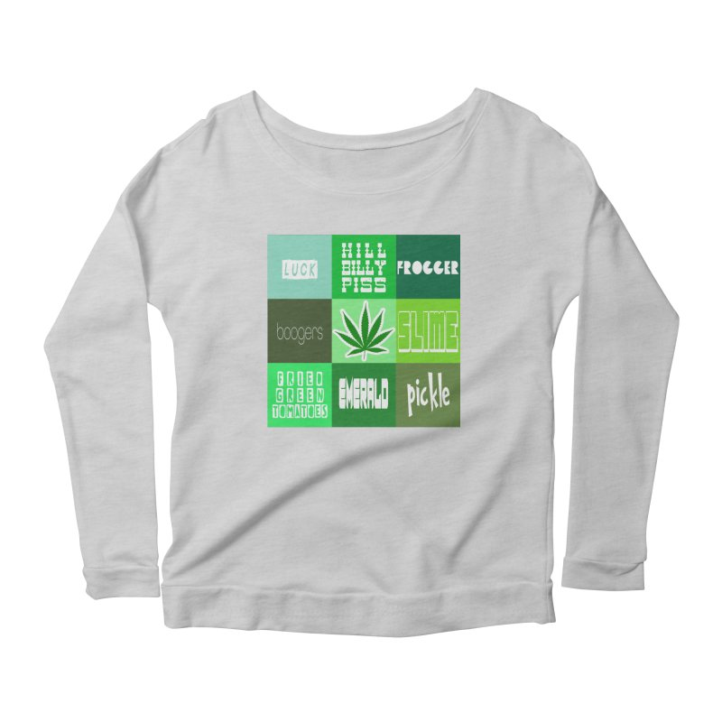 GREEN Women's Scoop Neck Longsleeve T-Shirt by Inappropriate Wares