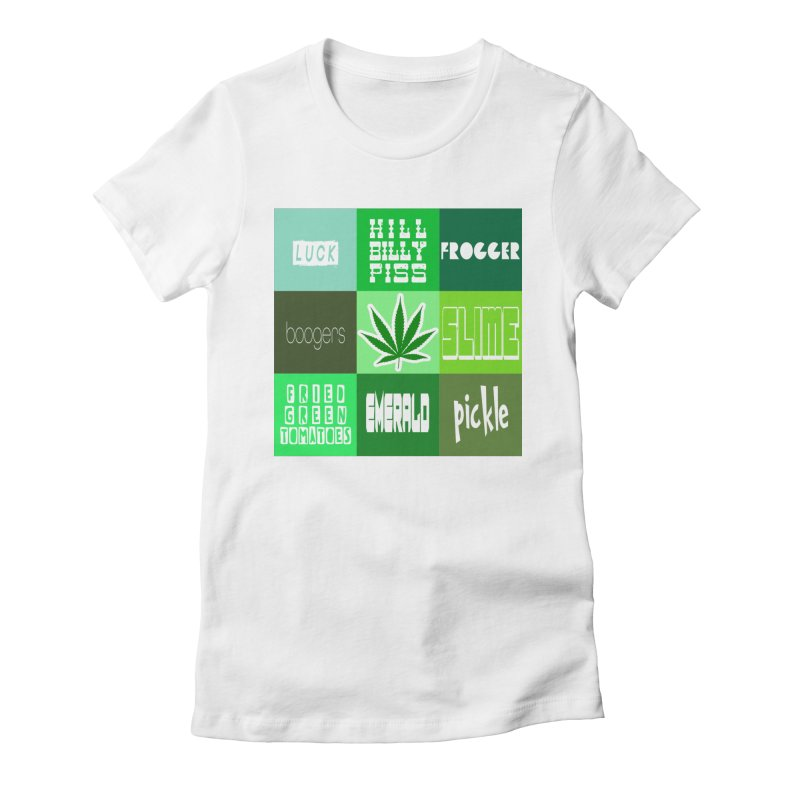 GREEN Women's Fitted T-Shirt by Inappropriate Wares