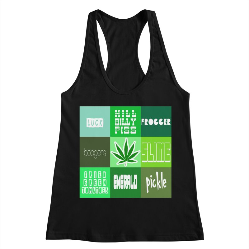 GREEN Women's Racerback Tank by Inappropriate Wares