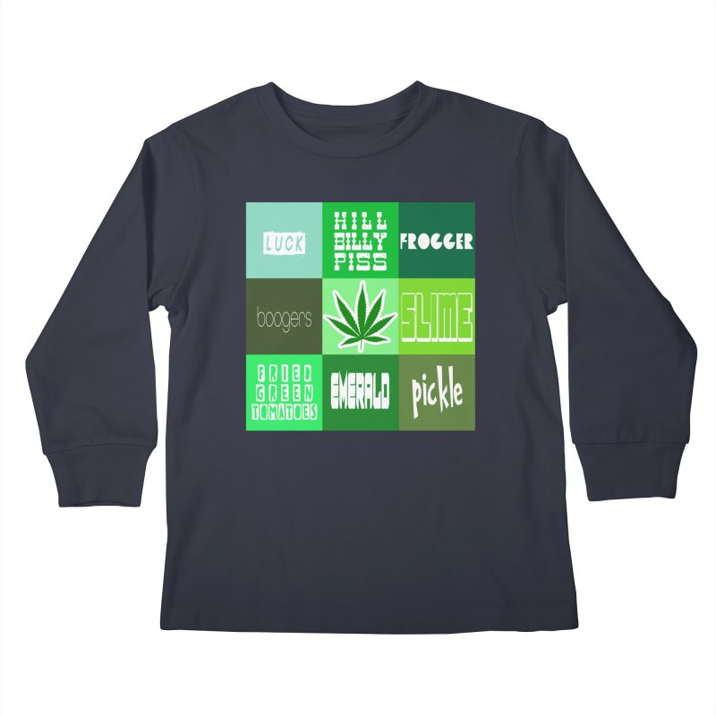 GREEN Kids Longsleeve T-Shirt by Inappropriate Wares