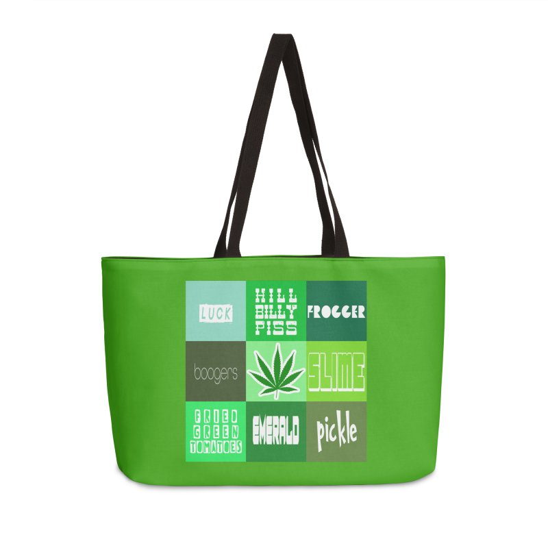 GREEN Accessories Weekender Bag Bag by Inappropriate Wares