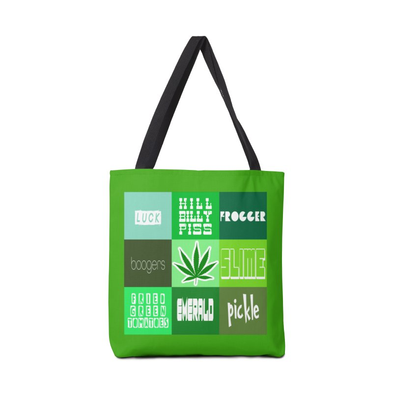 GREEN Accessories Tote Bag Bag by Inappropriate Wares
