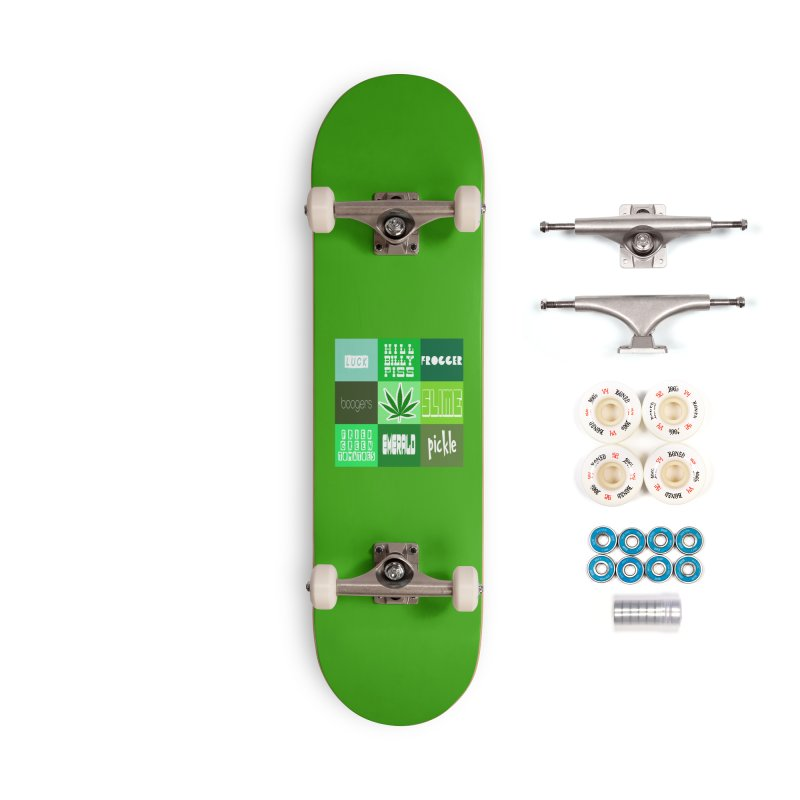 GREEN Accessories Complete - Premium Skateboard by Inappropriate Wares
