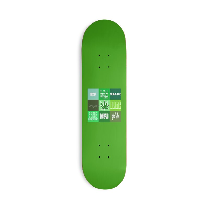 GREEN Accessories Skateboard by Inappropriate Wares