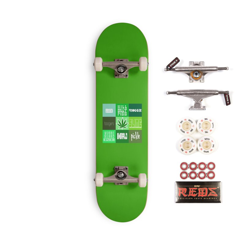 GREEN Accessories Complete - Pro Skateboard by Inappropriate Wares