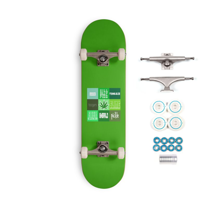 GREEN Accessories Complete - Basic Skateboard by Inappropriate Wares