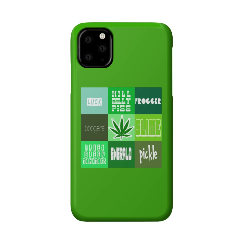 GREEN Accessories Phone Case by Inappropriate Wares