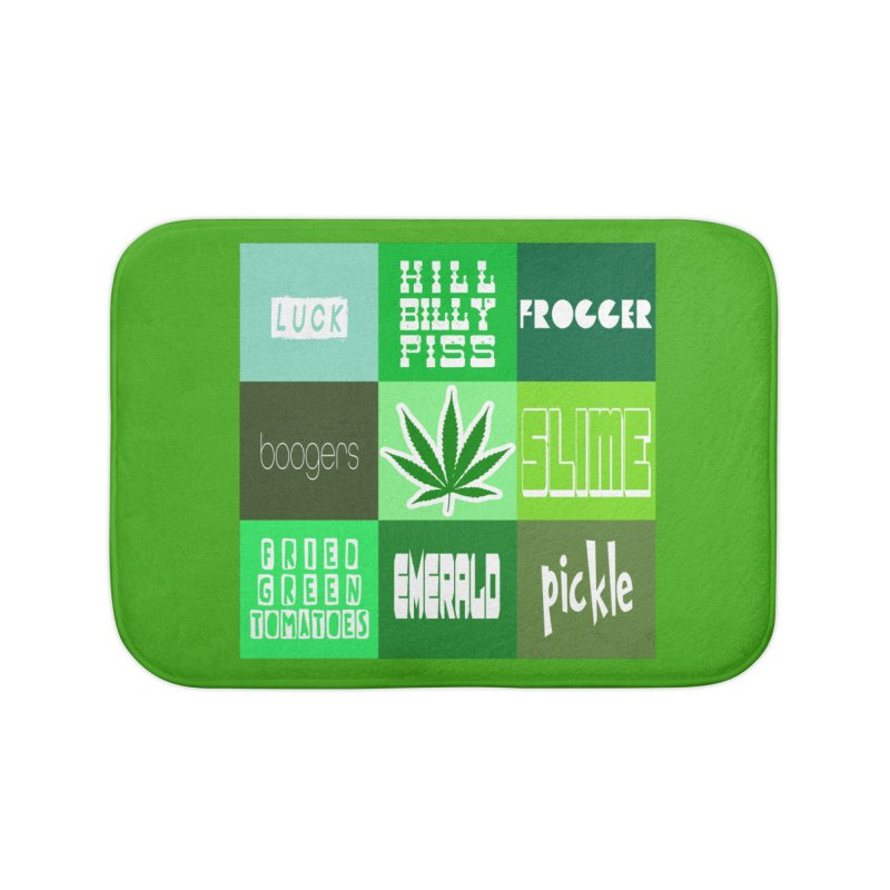 GREEN Home Bath Mat by Inappropriate Wares
