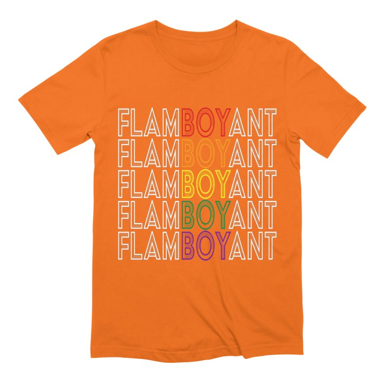 Flamboyant Men's Extra Soft T-Shirt by Inappropriate Wares