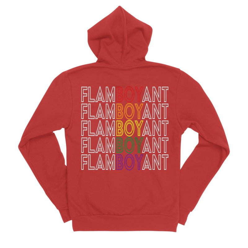Flamboyant Women's Sponge Fleece Zip-Up Hoody by Inappropriate Wares