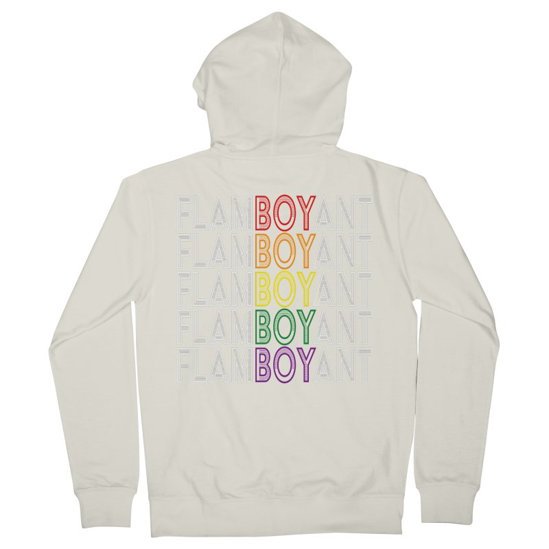 Flamboyant Men's French Terry Zip-Up Hoody by Inappropriate Wares