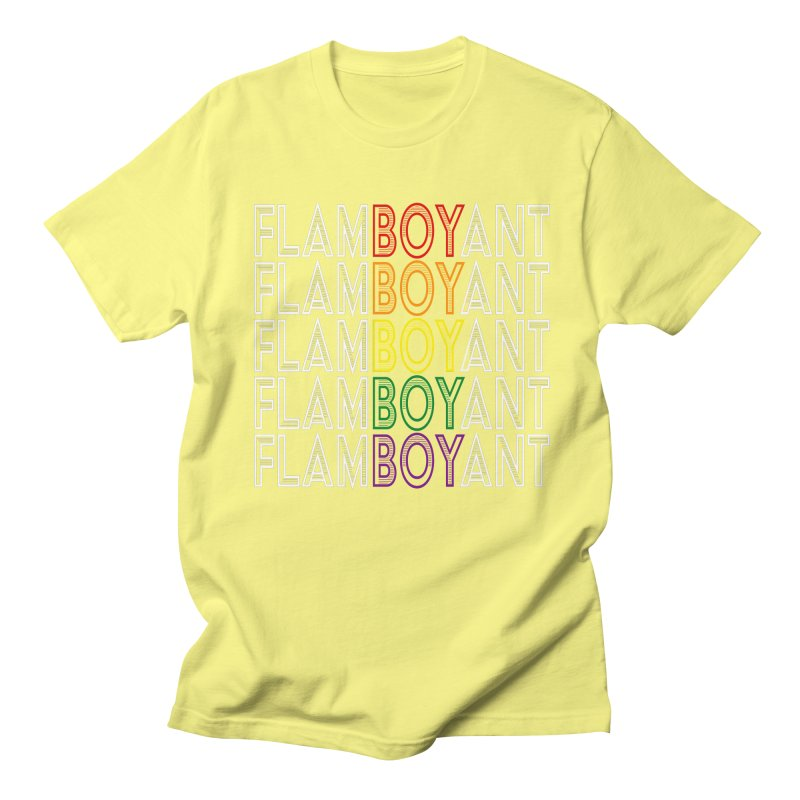 Flamboyant Men's Regular T-Shirt by Inappropriate Wares